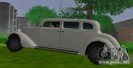 Hustler Limousine para GTA San Andreas left