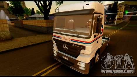 Mercedes-Benz Actros PJ2 para visión interna GTA San Andreas