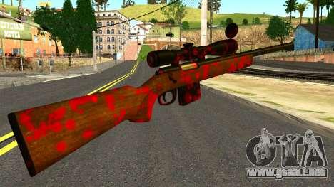 Rifle with Blood para GTA San Andreas segunda pantalla