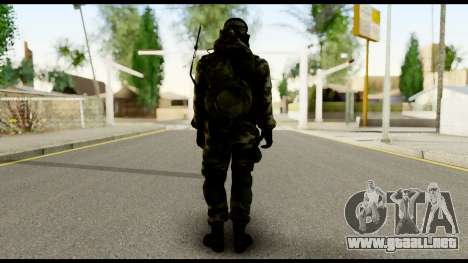 Engineer from Battlefield 4 para GTA San Andreas segunda pantalla