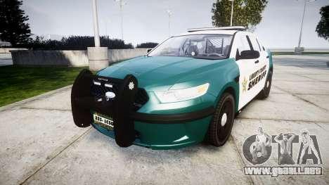 Ford Taurus 2014 LCSO [ELS] para GTA 4