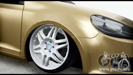 Volkswagen Golf 6 para la visión correcta GTA San Andreas
