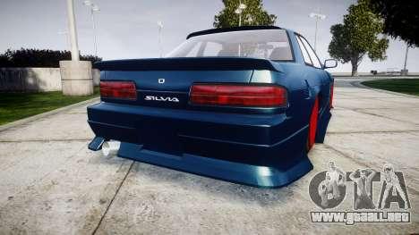 Nissan Silvia S13 1JZ para GTA 4 Vista posterior izquierda