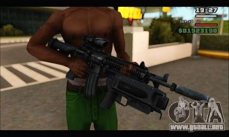 HK416 M320 Devgru para GTA San Andreas sucesivamente de pantalla