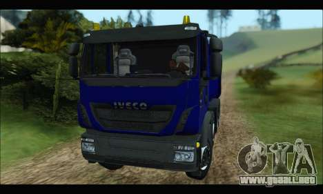 Iveco Trakker 2014 Tipper para GTA San Andreas left