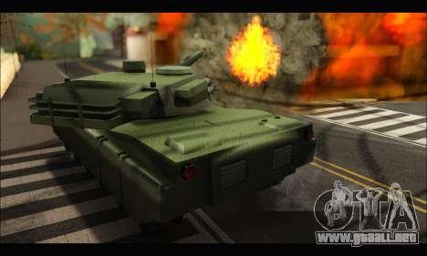 Retextured Rhino Tank para la visión correcta GTA San Andreas