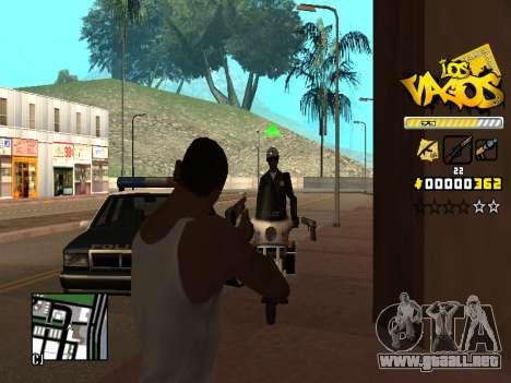 C-HUD Los Santos Vagos Gang para GTA San Andreas quinta pantalla