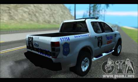 Ford Ranger P.B.A 2015 Text4 para GTA San Andreas left
