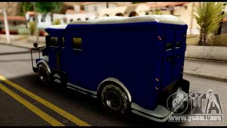 GTA 5 Stockade para GTA San Andreas vista posterior izquierda