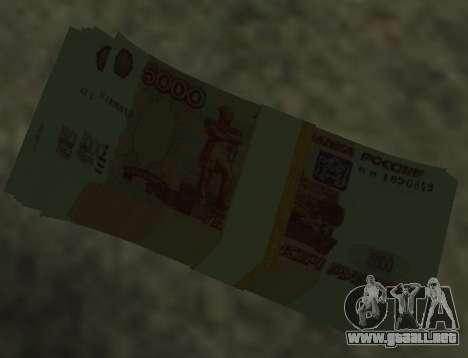 5000 rublos para GTA San Andreas segunda pantalla