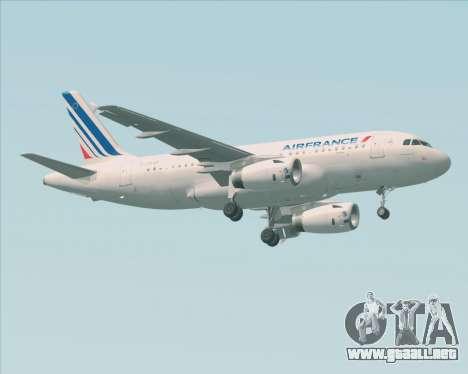 Airbus A319-100 Air France para GTA San Andreas left