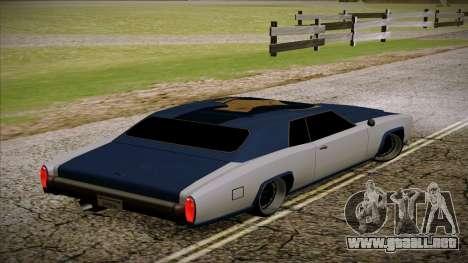 Buccaneer 2.0 para GTA San Andreas left