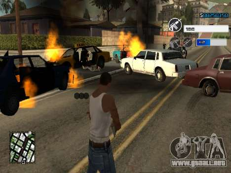 C-HUD by SampHack v.22 para GTA San Andreas segunda pantalla