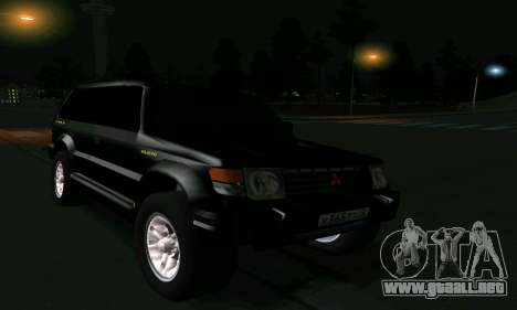 Mitsubishi Pajero Intercooler Turbo 2800 para vista inferior GTA San Andreas