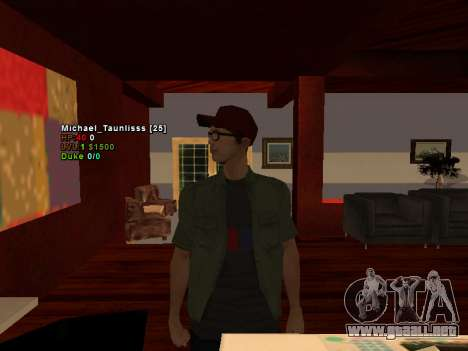 3D HUD CLEO para GTA San Andreas segunda pantalla