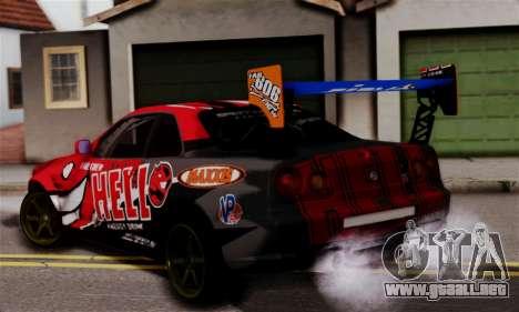 Nissan Skyline R34 HELL DT para GTA San Andreas left