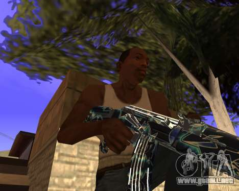 Blue Chrome Weapon Pack para GTA San Andreas séptima pantalla