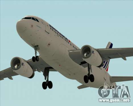 Airbus A319-100 Air France para GTA San Andreas interior