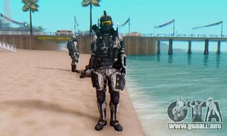 C.E.L.L. Soldier (Crysis 2) para GTA San Andreas quinta pantalla