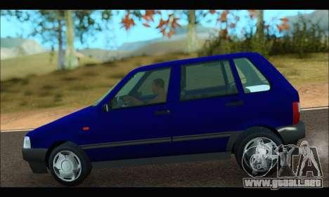 Zastava Yugo Uno para GTA San Andreas vista posterior izquierda