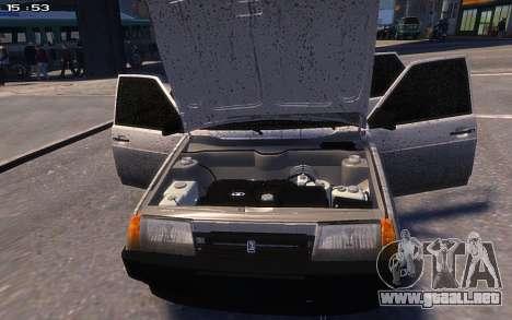 VAZ 2109 para GTA 4 Vista posterior izquierda