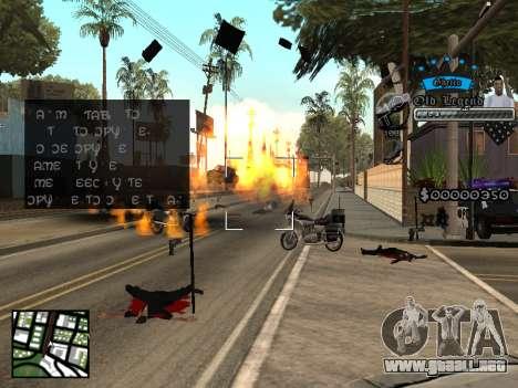 C-HUD Old Legend para GTA San Andreas tercera pantalla