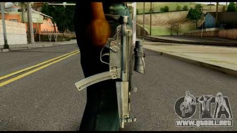 MP5 from Max Payne para GTA San Andreas tercera pantalla