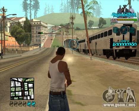 C-HUD for Aztecas para GTA San Andreas tercera pantalla