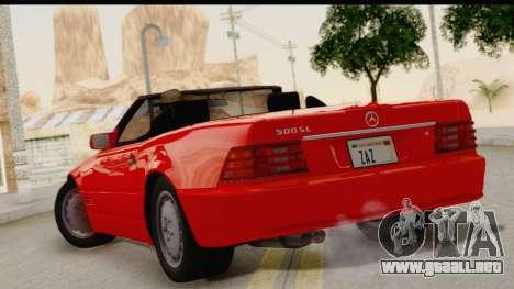 Mercedes-Benz 500SL R129 1992 para GTA San Andreas left