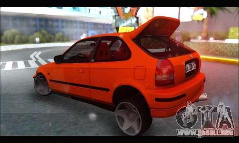 Honda Civic HB (JDM Family) para la visión correcta GTA San Andreas