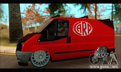 Ford Transit River para GTA San Andreas left