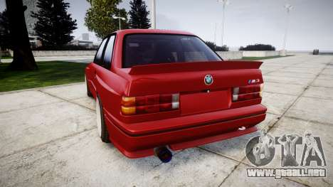 BMW E30 M3 para GTA 4 Vista posterior izquierda