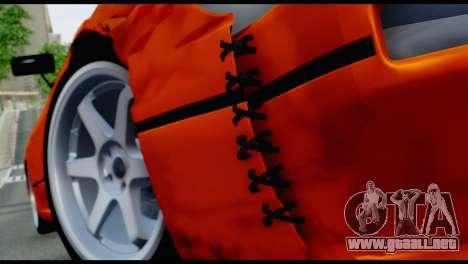 Nissan Silvia S13 Missile para GTA San Andreas vista hacia atrás