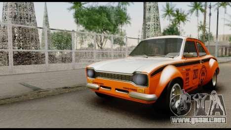 Ford Escort Mark 1 1970 para vista inferior GTA San Andreas
