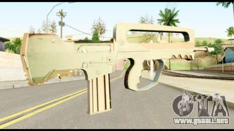 Famas from Metal Gear Solid para GTA San Andreas segunda pantalla