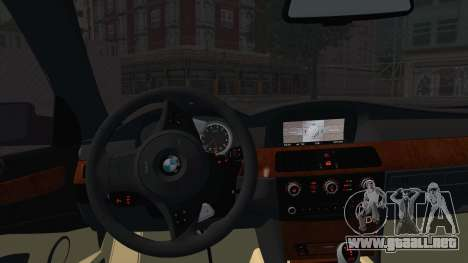 BMW M5 E60 Georgia Police para GTA San Andreas vista posterior izquierda