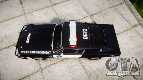 Ford Shelby GT500 Eleanor Police [ELS] para GTA 4 visión correcta