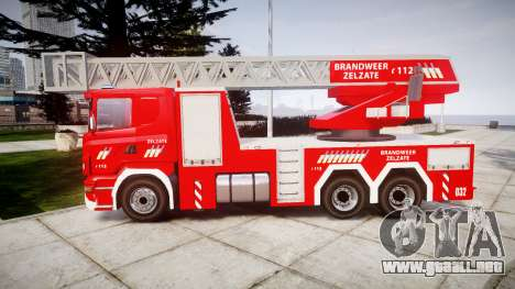 Scania R580 Belgian Fireladder [ELS] para GTA 4 left
