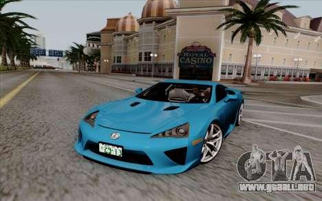 Lexus LF-A 2010 para GTA San Andreas