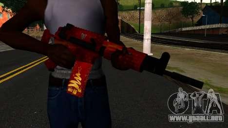 La Víspera de Año nuevo Rifle de Asalto 2 para GTA San Andreas tercera pantalla