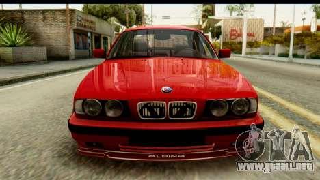 BMW M5 E34 Alpina para GTA San Andreas vista hacia atrás
