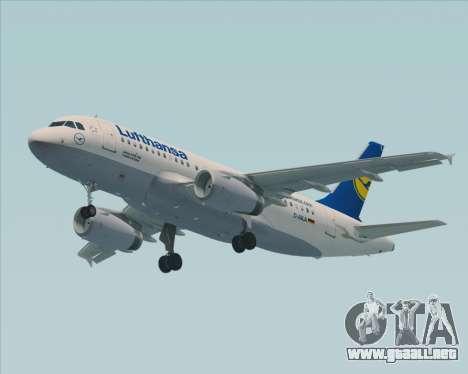 Airbus A319-100 Lufthansa para GTA San Andreas vista hacia atrás