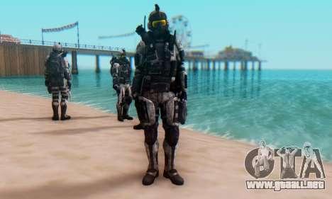 C.E.L.L. Soldier (Crysis 2) para GTA San Andreas sucesivamente de pantalla