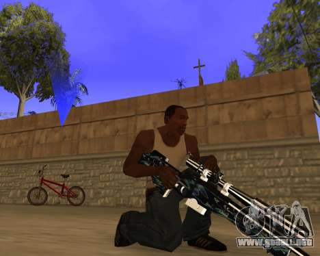 Blue Chrome Weapon Pack para GTA San Andreas sucesivamente de pantalla
