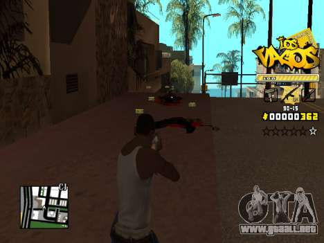 C-HUD Los Santos Vagos Gang para GTA San Andreas sucesivamente de pantalla