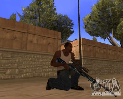Blue Chrome Weapon Pack para GTA San Andreas segunda pantalla