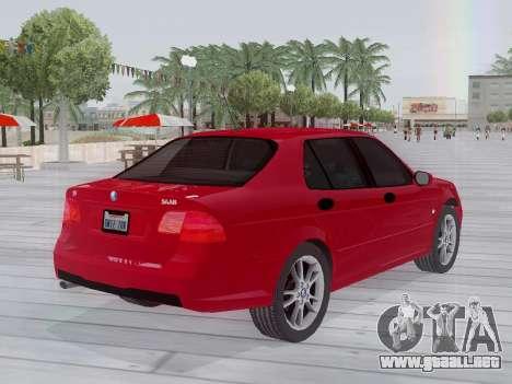 Saab 95 para GTA San Andreas vista hacia atrás