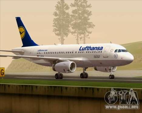 Airbus A319-100 Lufthansa para visión interna GTA San Andreas