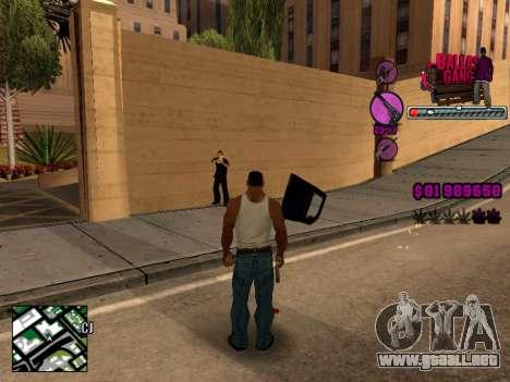 C-HUD Ballas TAWER para GTA San Andreas tercera pantalla