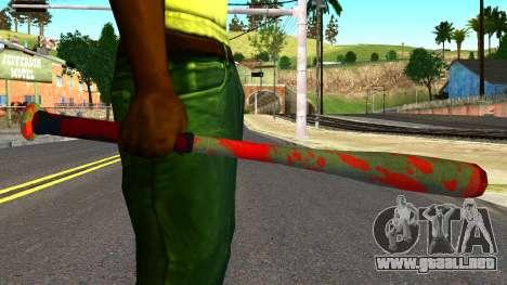 Baseball Bat with Blood para GTA San Andreas tercera pantalla